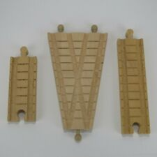 "CLICKETY-CLACK ""V"" SWITCH + GENUINE THOMAS & FRIENDS WOODEN TRAIN TRACK LOT OF 3"