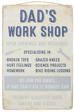 Jones Dad's Work Shop 30x20cm Hanging Metal Sign Jr296