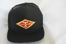 DIAMONS T TRUCKS HAT, SOLID FRONT,MESH,EMBROIDERY PATCH ON, COLOR BLACK