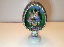 "Jim Shore Heartwood Creek Easter ""Display of Affection� Diorama Egg 2006,4007544"