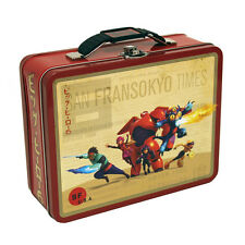 Big Hero 6 Metal Carry All Tin Lunch Box NEW Toys Animated Small Carrier Tote