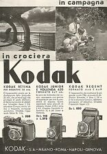 W9691 KODAK Junior e Vollenda - Pubblicità del 1936 - Old advertising