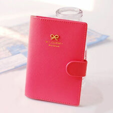 Cute Bowknot Crown Buckles E-Passport Protect Cover Pouch Passport Case Holder