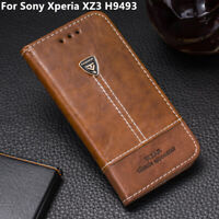 Case For Sony Xperia XZ3 H9493 Leather Flip Stand Slots Wallet Phone Cover 6.0''