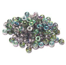Preciosa Crystal Vitrail Czechoslovakian Glass 9x6mm Crow Pony Beads 100pc