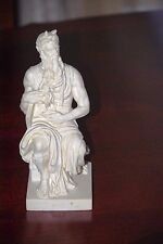 "Vintage Italian Statue Mose Michelangelo by A. Santini, Resin, 8"", Marked"