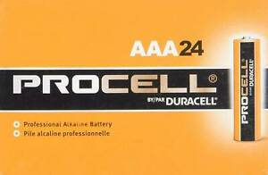 Procell AAA Alkaline Batteries by Duracell, 24 batteries