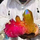 610g Rainbow FLAME AURA Quartz Plating TitaniumCrystal Cluster Healing