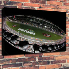 "Daytona Nascar Racetrack Printed Box Canvas Picture A1.30""x20"" 30mm Deep Frame"