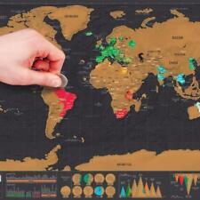 Luxury Edition Black & Gold Scratch-Off World Map - Memento Conversation Piece