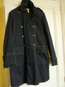 manteau en jean marine doublé polaire marron fille ou femme BONPOINT taille S