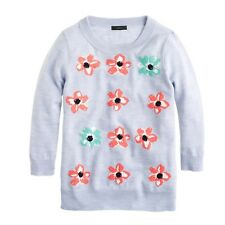 J. Crew Merino  Wool TIPPI Graphic Floral Sweater Sz. M