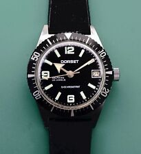 Vintage 60's DORSET Broad Arrow 25 Jewels Automatic Divers Watch Rotating Bezel
