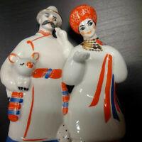 Couple porcelaine URSS Ukraine Russie rare parfait état
