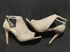 NEW Womens Gray Stiletto High Heels - Size 12  - Ladies Strappy Open Toe Shoes