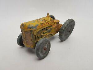 Vintage Benbros Qualitoys Ferguson Tractor yellow type 1 with unpainted wheels