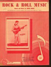 Rock N Roll Music 1957 Chuck Berry Sheet Music