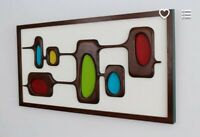 Mid Century Modern Wall Art - Carved Wood Wall Sculpture, Witco Style