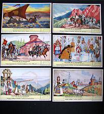 CHROMOS  LIEBIG -Trade card SERIE DE 6 - Histoire de La Roumanie