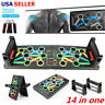 14 in 1 Push Up Rack Board System Fitness Workout Train Gym Exercise Stand Plank