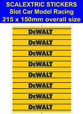 Slot car Scalextric sticker Model Race DeWALT tool Logo decal adhesive vinyl Yel