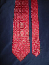 HUGO BOSS EXOTIC MODERN RED HOT SILK TIE HAND SEWN EXQUISITE!  MADE IN ITALY NEW