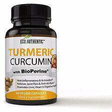 Turmeric Curcumin Root with BioPerine Black Pepper Extract - 95% Standardized...