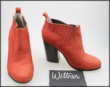 WITTNER WOMEN'S HIGH HEELS ELASTIC SIDED ANKLE FASHION BOOTS SIZE 6, 37