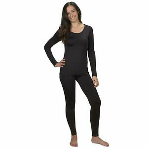 Women's Ultra Soft 2PC Set Thermal Underwear Long Johns Set with Fleece Lined