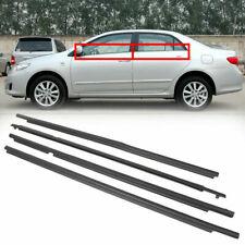 For Toyota Corolla 2007-2014 Weatherstrip Window Moulding Trim Seal Belt 4Pcs