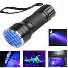 Portable UV Ultra Violet 9/21/51 LED Flashlight Blacklight Aluminum Torch Lamp