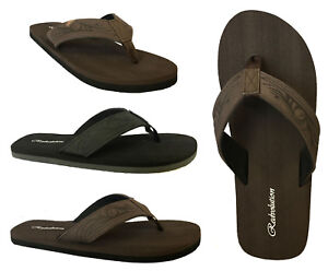 New MEN's TRIBAL Tattoo  Beach Flip Flop Sandals Beach Gym Pool size 7-13 ||
