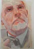 Original Sean Connery aceo sketch card drawing and painting 1/1