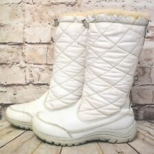 Womens UGG Australia White Leather Sheepskin Zip Up Winter Boots UK 4.5 EUR 37