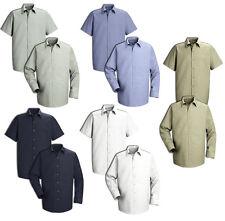 NEW! Red Kap Men's Shirts Industrial Pocketless Mechanic Work Uniform Irregular