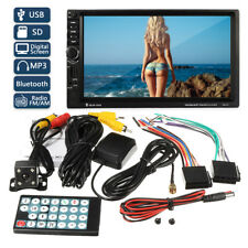 Gps Navigation Hd Double 2 Din Car Stereo Mp5 Player Bluetooth Radio In Dash+Cam(Fits: Dodge Avenger)