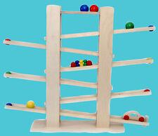 Kinder Spielzeug Kugelbahn Holz mit Zubehör Geschenk  Weihnachten Geburtstag