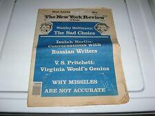 1980 NYR Election, Virginia Woolf, Havelock Ellis, Drabble, Reconstruction, ETC