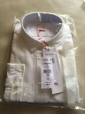 Womens Ladies Lacoste Live White Long Sleeve Cotton Shirt Small S NEW