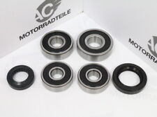 Honda CB 400 F F2 Four bearing and seal set front + rear wheel hub complete