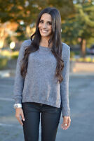 H&M Grey Lurex Glitter Sparkle Long Sleeve Jumper Top Bloggers Fave Size 12
