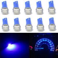 10pcs Car T5 70 73 74 Wedge Ultra Blue 1-SMD LED Dashboard Lights Gauge Cluster