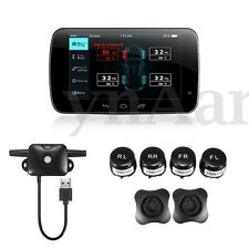 TPMS Tire Pressure Monitoring System + 4 Exterior Sensor For Android GPS Car DVD