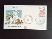 F.D.C Lisieux Visit Of Pope John Paul II Pilgrimages of Her Holiness 1980