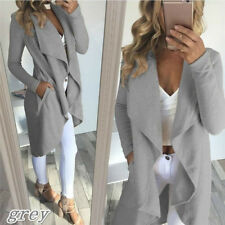 Size S/M/L/XL/2XL/3XL/4XL Women Fashion Outwear Cardigan Long Jacket Trench Coat