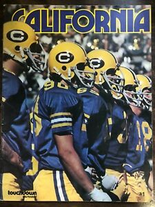 CALIFORNIA TOUCHDOWN ILLUSTRATED COLLEGE FOOTBALL PROGRAM 1973 VERY GOOD