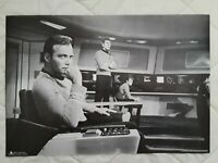 "Star Trek TOS - Kirk & Spock on Bridge B/W Poster - 23"" x 16"" - Free Shipping"