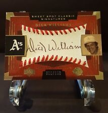 Upper Deck Sweet Spot Classic Signatures Dick Williams 36/150