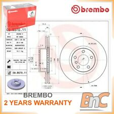 2x FRONT BRAKE DISC BMW X3 F25 X4 F26 BREMBO OEM 34106787490 09B57011 HEAVY DUTY