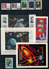 Space Exploration, Lot of mint stamps, MNH, VF, Soviet Union/Russia, 1960s